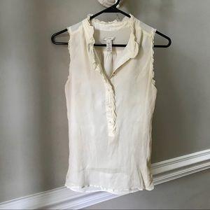 JCrew silk cream beige blouse shirt top spring 4